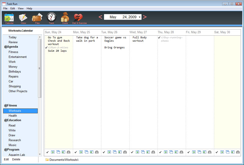 TaskRun Time Planner and Life Organizer full screenshot